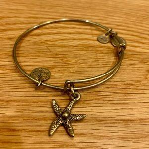 Alex and Ani Starfish Charm Bangle